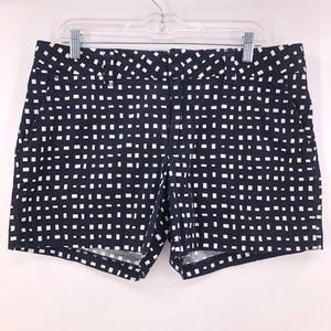 VGW-Tommy Hilfiger black white print shorts